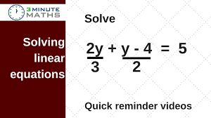 solving linear equations with fractions gcse maths level 6