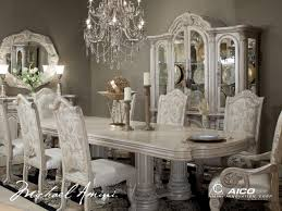 High Quality Michael Amini Monte Carlo Silver Pearl II Traditional Dining Room Set By  AICO