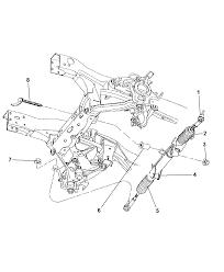 2001 dodge durango gear power steering rack pinion thumbnail 2
