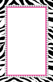girly borders for microsoft word girly animal print clipart
