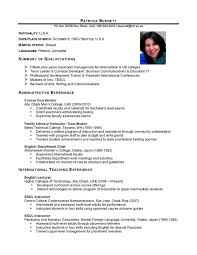 Ideas Collection Sample International Resume About Sheets