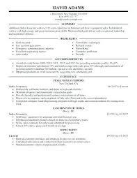 Cashier Sales Associate Resume Retail Sample For Clothing
