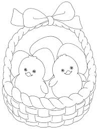 Small Picture Little Chicken inside Easter Basket Coloring Page Batch Coloring