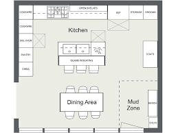 Kitchen Layout Ideas - Kitchen floor plan with island and appliance layout