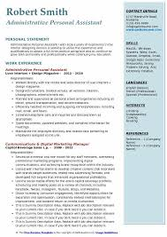 sample personal assistant resume administrative personal assistant resume samples qwikresume