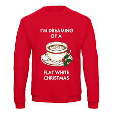funny coffee flat white jumper