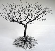 Large Jewelry Tree Display Stand Black large Earring Tree Stand wire tree sculpture perfect for 1