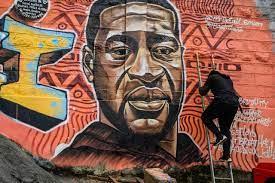Powerful George Floyd Murals Seen ...