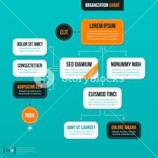 Modern Org Chart Modern Organizational Chart On Turquoise Background Royalty