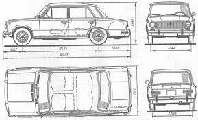 Техническая характеристика автомбиля ваз  Рисунок 1 2 Габаритные размеры автомобиля ВАЗ 2101