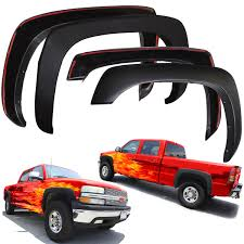 Fender Flares for Chevy Silverado 99-06 Set of 4 Paintable Matte ...