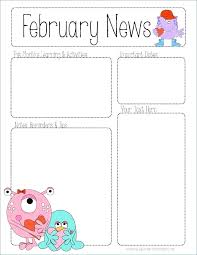 February Newsletter Template Editable Newsletter Templates Free Download Moontex Co