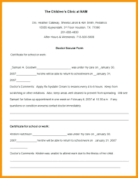 Doctors Note Templates O Fill In The Blank Medical Template Sick