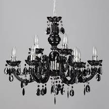 large statement ceiling chandelier black gothic