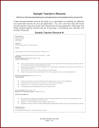 15 Simple Format Of Resume For The Post Of Teacher Sendletters Info