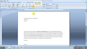 How To Mail Merge A Document In Office 2007 Youtube