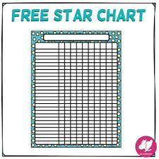 Freebie Star Chart Free Class Behavior Chart Record Keeping Name List