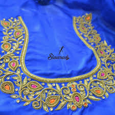 Aari Design Book Ping On 7299852557 To Book An Appointment Embroidery Neck