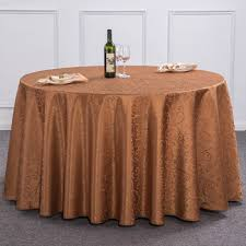 light brown burdy red ivory 120 inch round tablecloth polyester