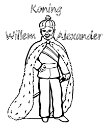 Koningshuis Kleurplaten Koning Willem Alexander