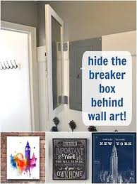 how to hide household eyesores clutter hide a fuse box