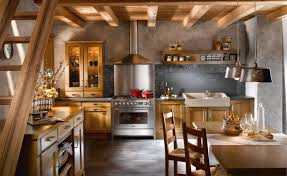 Country Kitchen Remodel Small Western Kitchen Remodel Under Stairs With Oak Wooden Cabinet