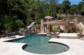 basement pool house. Basement Ideas For Kids Area Pool Mediterranean With Stone Paving House