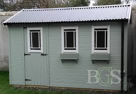 cottage garden shed painted