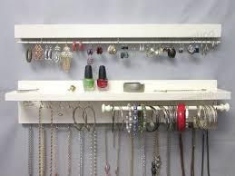 Jewelry Wall Organizer, Necklace Holder, Earring Holder, Bracelet Holder, Necklace  Storage, Glass Jar for Stud Earrings, Ring Box