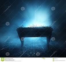 Manger Light Manger At Night Stock Photo Image Of Nativity Straw 60387416