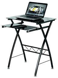 bestar hampton corner workstation fancy black glass desk antiqued l shaped with included hutch brown image