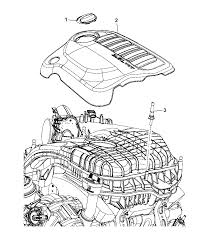 2014 dodge journey engine cover related parts diagram i2303291