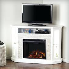 white corner electric fireplace entertainment center unit loft furnishings fresh rustic faux stone a stand