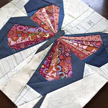 Machine paper piecing a butterfly quilt block using low volume ... & Machine paper piecing a butterfly quilt block using low volume scraps for  the background and bright Adamdwight.com