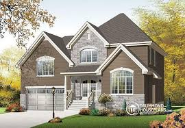 House plan W  V detail from DrummondHousePlans comfront   BASE MODEL Modern Rustic house plan   large bonus space above  car