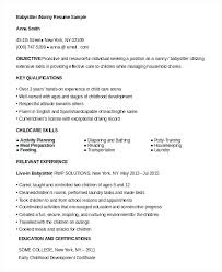 Sample Nanny Resumes Examples Of Resume Here Are Example Pics