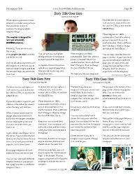 Newspaper Layout On Word 5 Blue Design For Word Newspaper Article Template Online