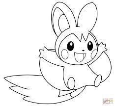 Cozy Design Pokemon Coloring Images Pages Free Emolga Book Go