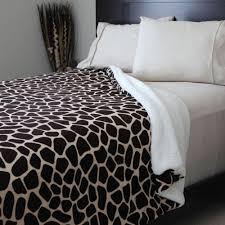 queen sherpa blanket.  Blanket Lavish Home Giraffe Print FleeceSherpa Polyester FullQueen Blanket And Queen Sherpa