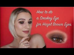 ill show you how to do a brown smokey eye for hazel brown eyes step by step it is a pretty simple eye makeup tutorial that you can easy follow in step