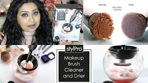stylpro makeup brush cleaner drier review demo nishi v
