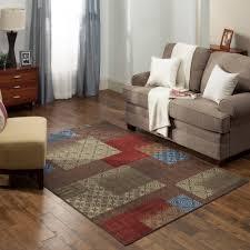 geometric area rug mainstays durable entryway hallway kitchen office 3 piece set