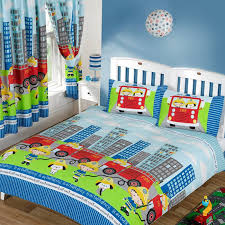 high green tractor baby bunk bed with masculine bedding set for