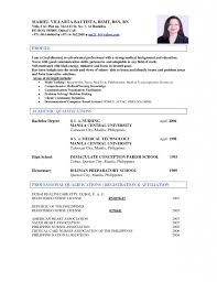 Incredible Ideas Medical Technologist Resume 4 Examples Templates