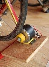 homemade electric generator. Homemade Bicycle-driven Generator Constructed From A Bicycle, An Electric Motor, Charge Controller, And Inverter.