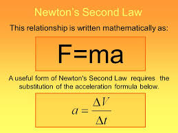 6 this relationship is written mathematically as newton s second law