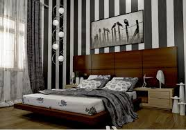 Attractive Bedroom With Stripes