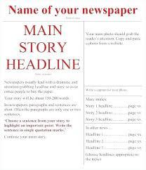 Newspaper Article Word Template Online News Article Template Newspaper Apa Format