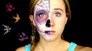 half face sugar skull makeup tutorial