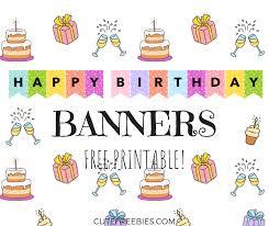 Birthday Banner Printable Happy Birthday Banners Buntings Free Printable Cute